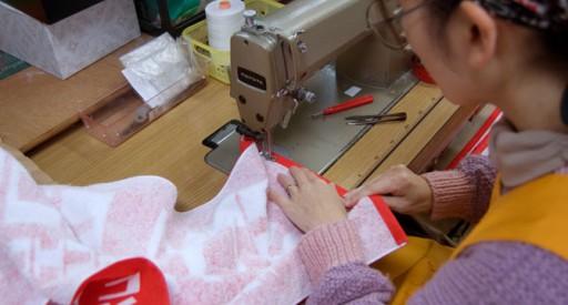 タオルの縫製に関して