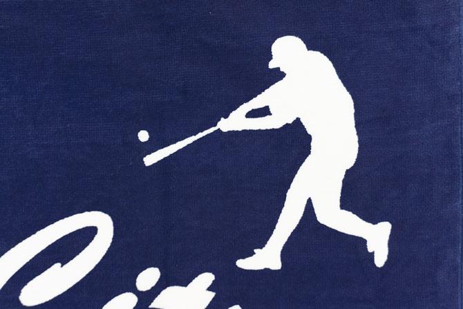 野球シルエットタオル