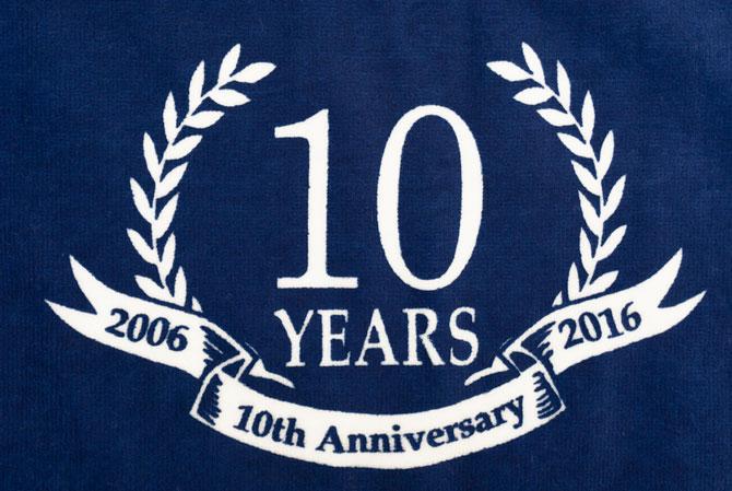 10周年記念タオル