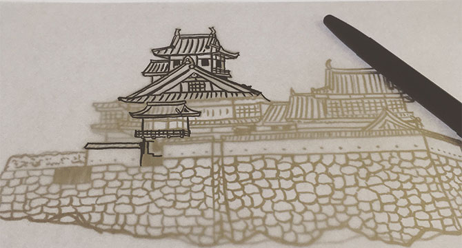 福知山城 原稿作り