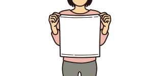 ハンドタオルのサイズイメージ