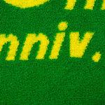 ジャガードタオル緑と黄色