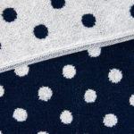 ジャガードタオル紺と白